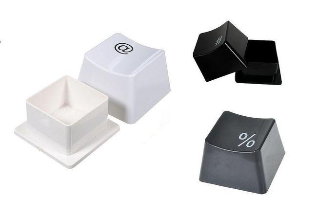 Praktický box v podobě tlačítka klávesnice - 2 barvy 1