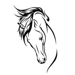 Naljepnica za auto - glava konja