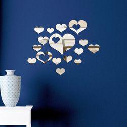 Romantyczna naklejka ścienna - lustrzane serca