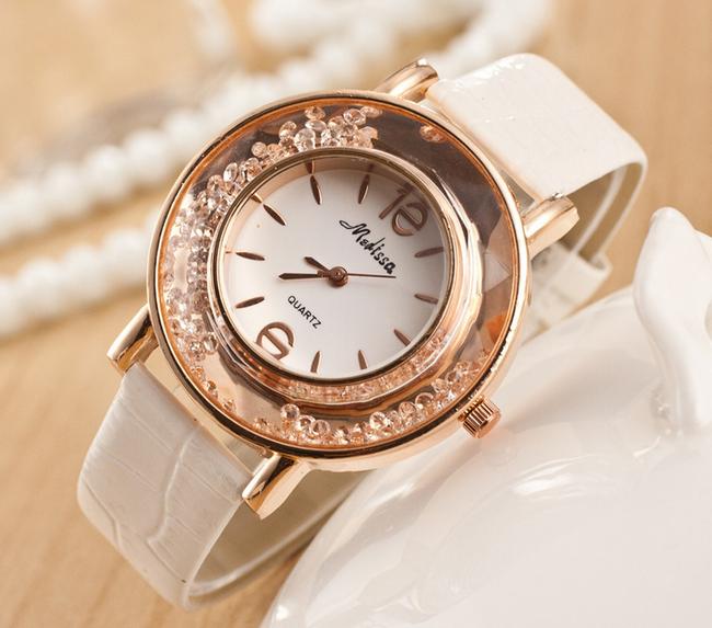 Dámské hodinky se zdobeným ciferníkem - 3 barvy  1