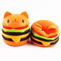 Szorító vicces játék - macska hamburger