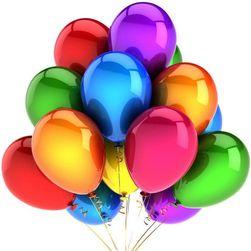 Baloane gonflabile - 10 bucăți, diverse culori