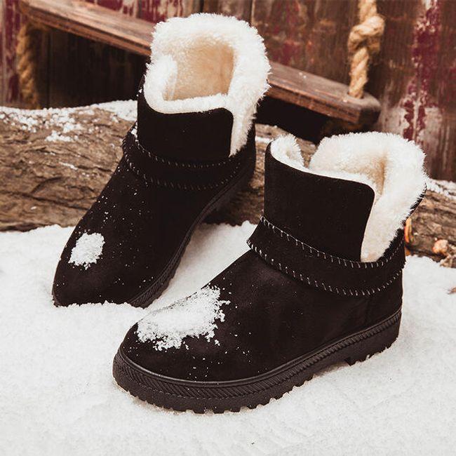 Dámské zimní boty s kožíškem - Černá-4.5 1