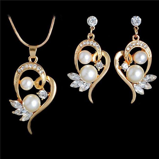 Set šperků s perličkami a kamínky 1