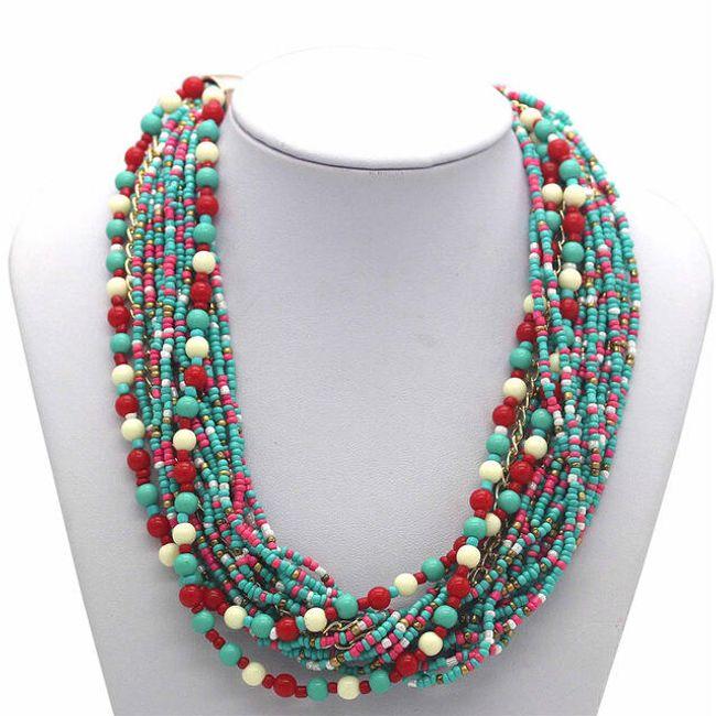 Zajímavý náhrdelník z korálků 1