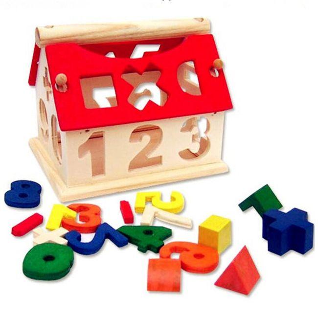 Dřevěná hračka s čísly 1