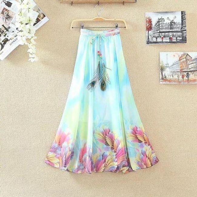 Lehká dlouhá letní sukně - 18 1
