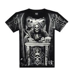 Rockowa koszulka z oryginalnymi wzorami