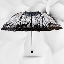 Складной прозрачный зонт с разными мотивами- 4 варианта