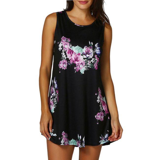 Opuštena haljina sa cvetićima - 6 boja 1