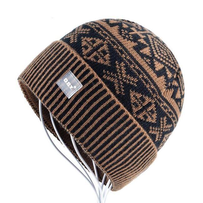 Pánský pletený kulich se vzorem 1
