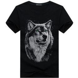 Pánské stylové tričko s vlkem - 4 barvy