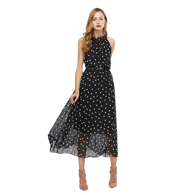 Dlouhé šaty - puntíkové 1