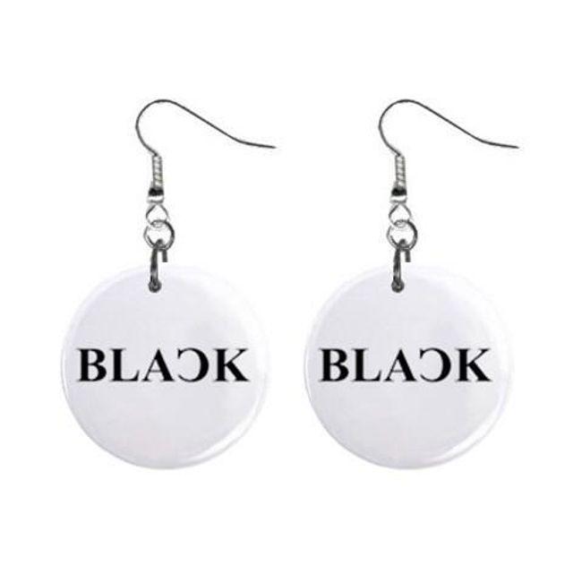 Круглые плоские серьги- Black 1