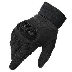 Перчатки для мотоциклистов трех размеров - черный цвет