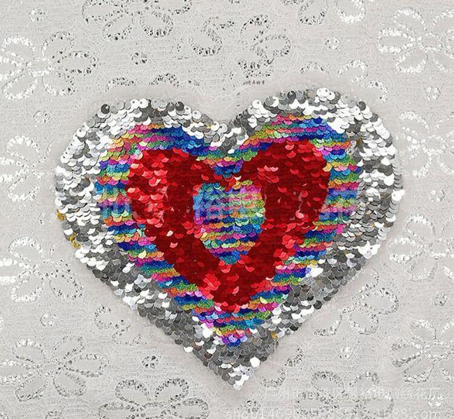 Oboustranná nášivka - srdce 1