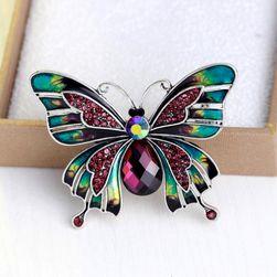 Dámská brož ve tvaru motýla