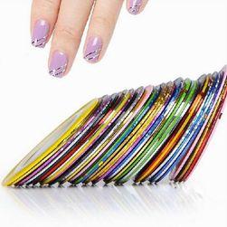 Barvni lepilni trakovi za nohte v različnih barvah - 10 kosov