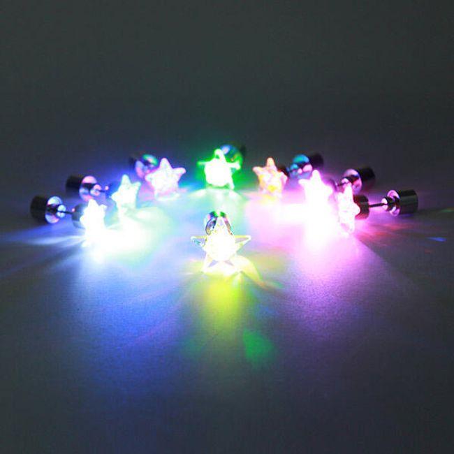 LED kolczyk w kształcie gwiazdy - 1 sztuka 1