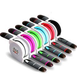 Kabel na navijanje sa micro USB i 8-pin konektorom 2u1 - razne boje