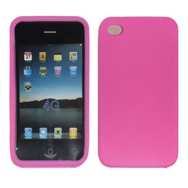 5ks růžové silikonové ochranné pouzdro pro iPhone 4 a 4S 1