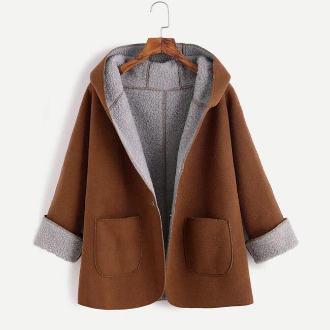 Kabát s kapucí a kapsami 1