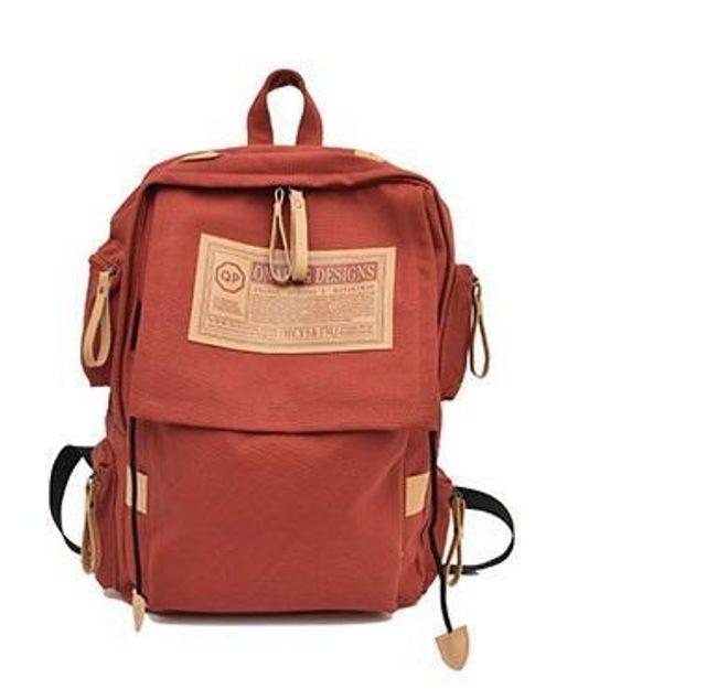 Vászon hátizsák több zsebbel - 7 szín