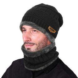 Caciula și fular tip guler de iarnă pentru bărbați - 6 culori