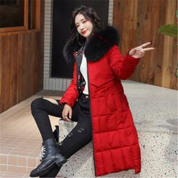 Bayan çift taraflı ceket Donna Červená - velikost č. 5