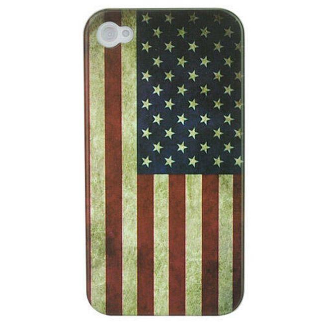 Plastový ochranný kryt na iPhone 4 a 4S - vlajka USA 2 1