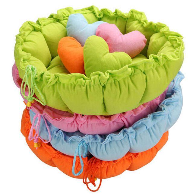 Лежак для питомца с подушкой в форме сердца- 4 расцветки 1