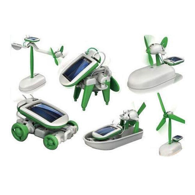 Solar bot - 6 w 1, interaktywna zabawka na napęd solarny 1