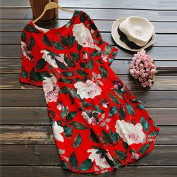 Ženska haljina sa cvijetićima za punije - 4 varijante