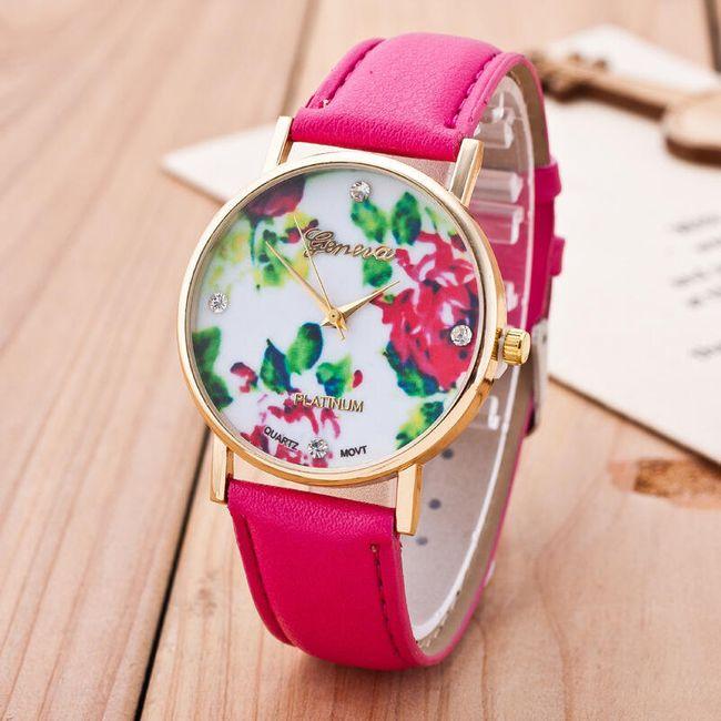 Ceas pentru femei cu motive florale 1