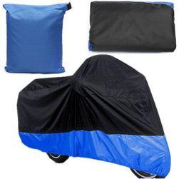 Modro - černá ochranná plachta na motocykl
