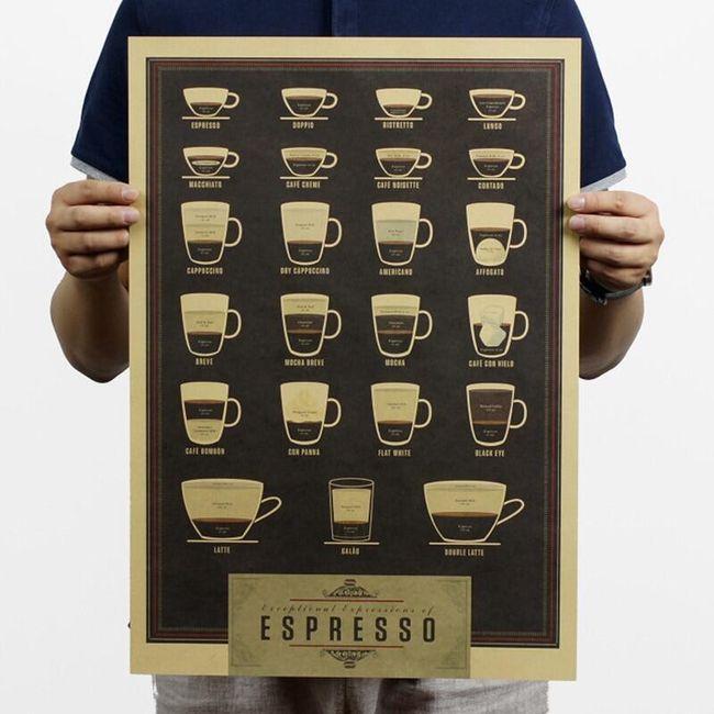 Poszter kávéval Karina 1
