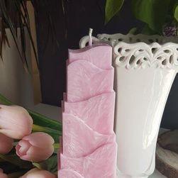 Rózsaszín hullámzó gyertya