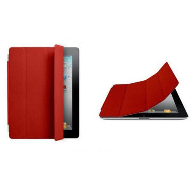 Magnetický chytrý kryt pro iPad 2 - červený 1