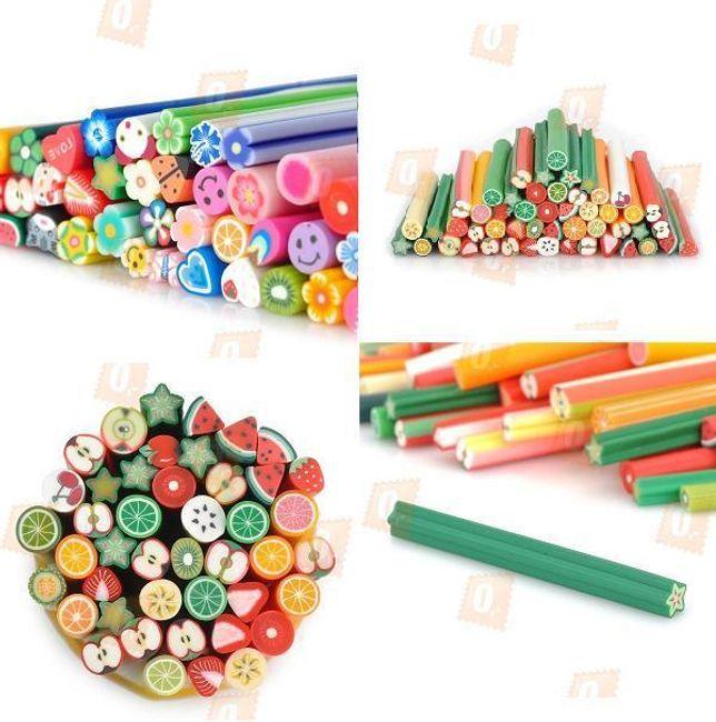 Polymerové tyčinky v různých motivech - 50 kusů 1