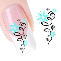 Naklejka na paznokcie - kwiaty
