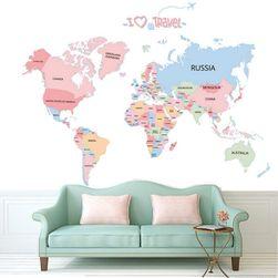 Zidna nalepnica - mapa sveta