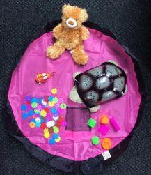 Vak na hračky ružový - malý PD_1536256
