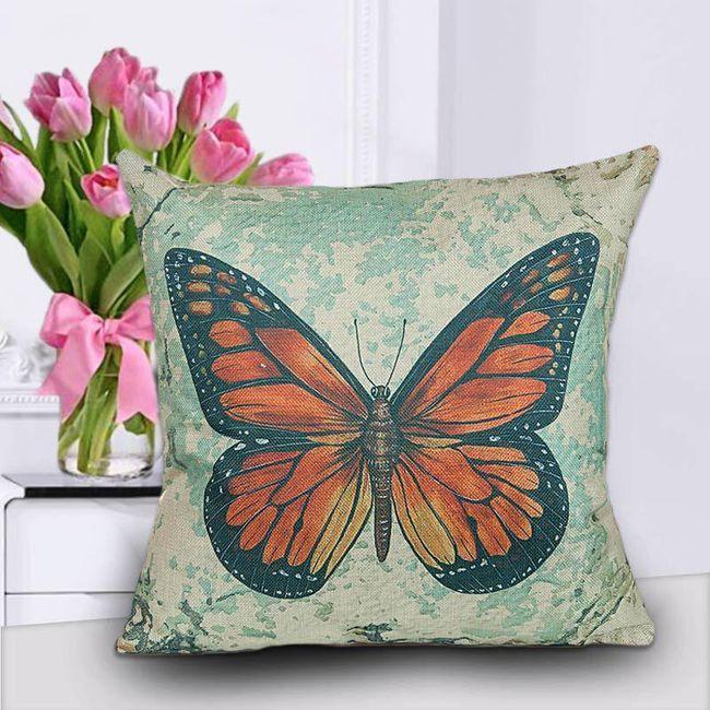 Povlak na polštář s motýlem - různé varianty 1