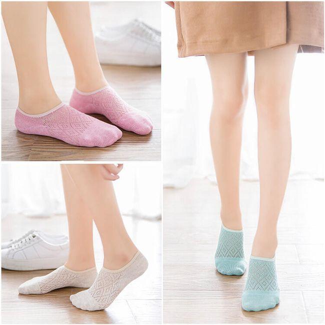 Alacsony zokni csúszásmentes felülettel a sarkon - 5 pár