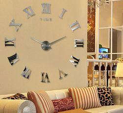 Голям огледален часовник за стена - 10 цветни мотиви