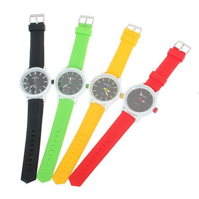 Silikonové hodinky Saneesi - ve 4 barvách 1