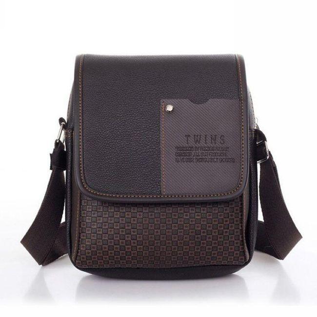 Pánská taška přes rameno z umělé kůže - 2 varianty 1