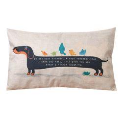Poszewka na poduszkę - jamnik długi