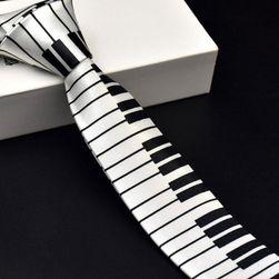 Cravată pentru bărbați cu motive muzicale - clape pian