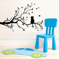 Стикер за стена - Котка на дърво